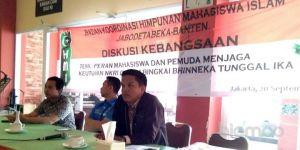 HMI Badko Jabodetabeka Banten: Pemuda dan Mahasiswa Harus Aktif Menjaga Kesatuan dan Persatuan Bangsa