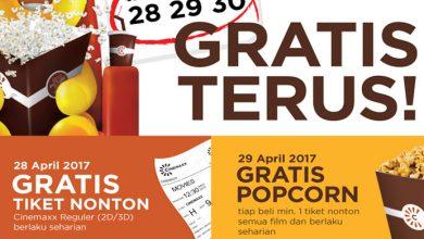 Photo of Mulai Besok, Bioskop Cinemaxx Buka Promo Spesial Gratis Nonton Seharian, Buru Datang!