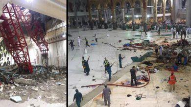 Photo of Mekkah Dilanda Badai, Alat Berat Timpa Jamaah Haji
