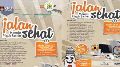 Photo of Tersedia Doorprize! Yuk, Ikuti Jalan Sehat 'Menuju Pilgub Banten' bersama KPU Kota Serang