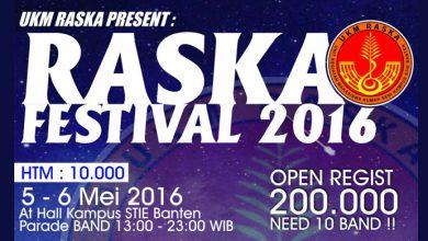 Photo of RASKA Festival 2016, Wadah Unjuk Gigi di Bidang Seni