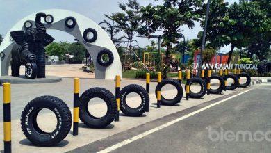 Photo of Taman Gajah Tunggal, Uniknya Taman dari Daur Ulang Ban