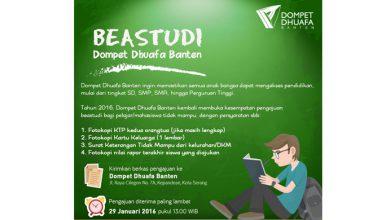 Photo of Beastudi Dompet Dhuafa Banten 2016, Pengajuan Terakhir 29 Januari