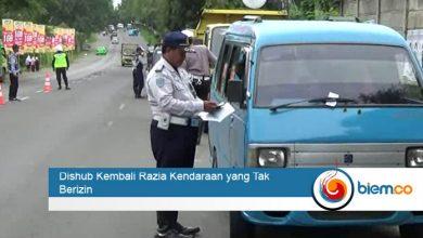 Photo of Dishub Kembali Razia Kendaraan yang Tak Berizin