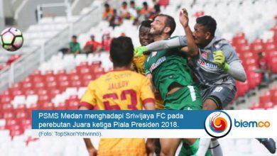 Photo of Pecundangi PSMS 0-4, Sriwijaya FC Juara Ketiga Piala Presiden