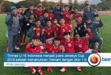 Photo of Timnas U-16 Indonesia Juara Jenesys Cup 2018