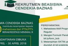 Photo of Beasiswa Cendekia Baznas untuk 300 Mahasiswa, Segera Daftar!