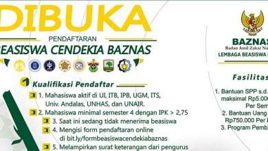 Photo of Beasiswa Cendekia Baznas Dibuka, Ayo Daftar!