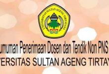 Photo of Untirta Buka Seleksi Penerimaan Calon Dosen dan Tenaga Kependidikan Non-PNS