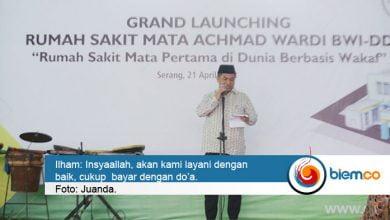 Photo of Rumah Sakit Mata Achmad Wardi di Kota Serang Diresmikan