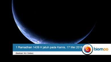 1 Ramadhan 1439 H
