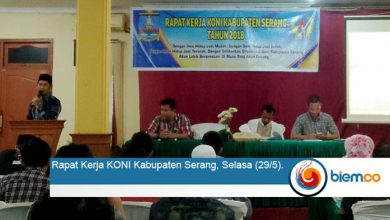 Photo of Satukan Persepsi, KONI Kabupaten Serang Adakan Raker