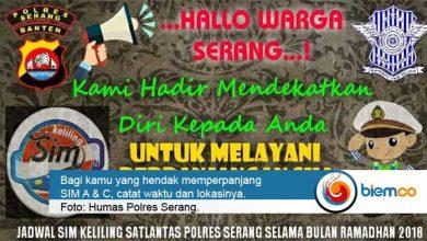 Photo of Jadwal Pelayanan SIM Keliling Polres Serang Selama Ramadhan