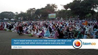 Pelaksanaan Shalat Idul Fitri di Alun-Alun Kota Serang