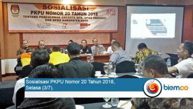 Photo of PKPU Nomor 20 Tahun 2018 Disosialisasikan, KPU Kumpulkan Parpol Peserta Pemilu