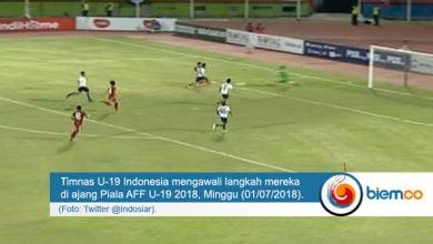 Photo of Timnas U-19 Indonesia Ungguli Laos di Babak Pertama
