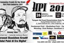 Photo of Peringati Hari Puisi, Komunitas Penulis Nyi Mas Melati akan Gelar Gebyar Hari Puisi Indonesia 2018