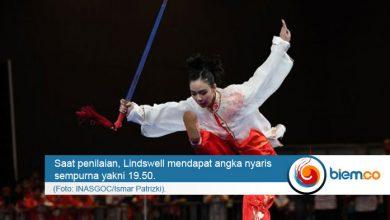 Photo of Ratu Wushu Dunia Lindswell Kwok Persembahkan Medali Emas Kedua Indonesia di Asian Games 2018