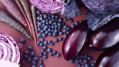 buah dan sayuran ungu