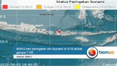 Photo of Usai Gempa 7 SR, BMKG Beri Peringatan Dini Tsunami di NTB