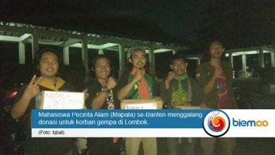 Photo of Peduli Bencana Gempa Lombok, Mapala se-Banten Akan Turunkan Relawan