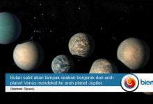 Photo of Hingga Kamis, Planet Venus, Jupiter, dan Bulan Berada dalam Satu Garis Lurus
