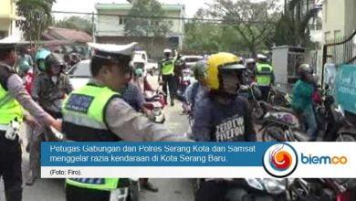 Photo of Ratusan Pengendara Terjaring Razia di Kota Serang Baru
