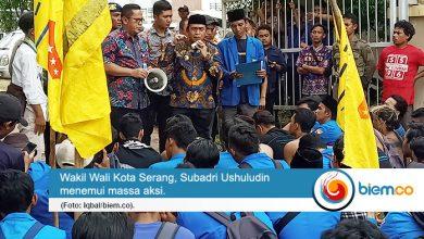 Photo of Aksi Demonstrasi 100 Hari Kerja Wali Kota dan Wakil Wali Kota Serang Pecah Dua Kubu