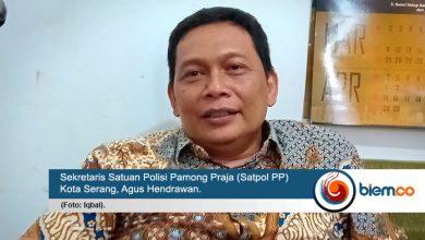 Sekretaris Satuan Polisi Pamong Praja (Satpol PP) Kota Serang, Agus Hendrawan