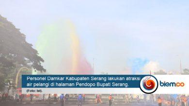 Photo of Damkar Kabupaten Serang Atraksi Air Pelangi
