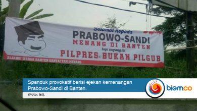 Photo of Spanduk Ejekan Kemenangan Prabowo Bertebaran di Kota Serang