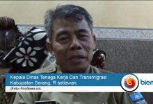 Kepala Dinas Tenaga Kerja Dan Transmigrasi Kabupaten Serang, R setiawan