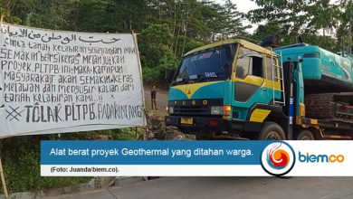 Photo of Masyarakat Boikot Alat Berat Proyek Geothermal