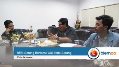 Bem serang bersama Wali Kota Serang