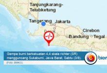 Photo of Gempa Bumi Berkekuatan 4,4 SR Guncang Sukabumi