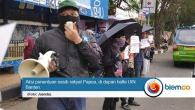 Sejumlah Mahasiswa Serang Tuntut Refrendum Papua