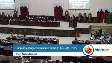 Paripurna perubahan RPJMD 2017-2022