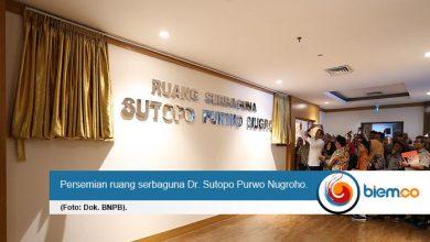 peresmian ruang serbaguna Dr. Sutopo Purwo Nugroho