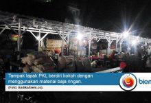 PKL Pasar Rau Kembali Bangun Lapak di Area Terlarang