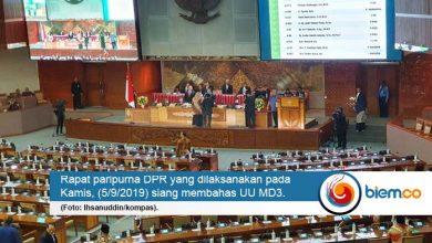 Photo of UU MD3 Disetujui Semua Fraksi di DPR dalam Rapat Paripurna