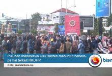 Mahasiswa UIN Banten Lakukan Aksi Penolakan RKHUP
