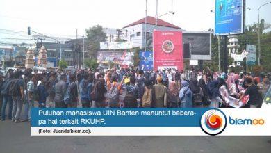 Photo of Mahasiswa UIN Banten Lakukan Aksi Penolakan RKUHP