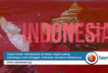 Photo of Indonesia Masuk 20 Besar Negara Paling Berbahaya untuk Ditinggali di Dunia