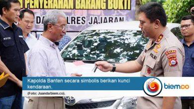 Polda Banten Kembalikan Kendaraan Hasil Sindikat Curanmor