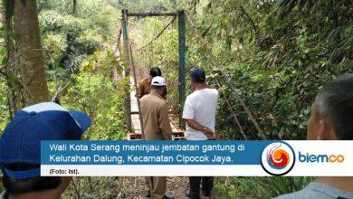 Wali Kota Serang Sarankan Jembatan Gantung Dalung Ditutup Sementara