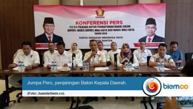 November Mendatang DPD Partai Gerindra Banten Buka Penjaringan Balon Kepala Daerah