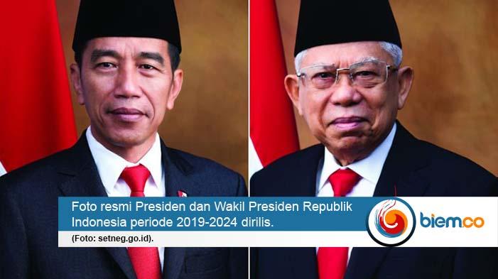 Jokowi Ma Ruf Akan Dilantik Setneg Rilis Foto Resmi Presiden Dan Wakil Presiden Periode 2019 2024 Biem Co