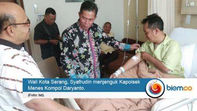 Syafrudin Jenguk Kapolsek Menes Korban Kebrutalan Penyerang Wiranto