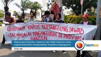 Pengangguran di Banten Tak Temui Titik Terang, KMS 30 Lakukan Aksi Unjuk Rasa