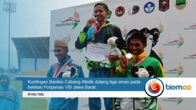 Banten Dulang Tiga Emas dari Cabang Atletik pada Pospenas 2019